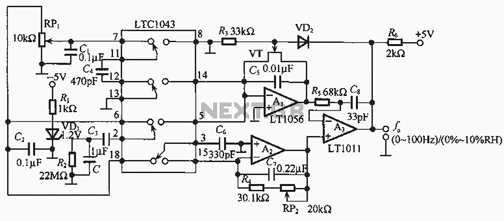 Single-ended forward converter circuit - schematic