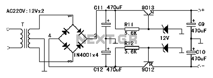 NE5532 manufactured by headphone amplifier circuit - schematic