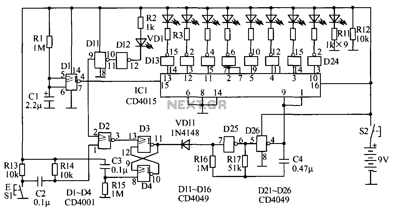 human reaction speed test circuit under other circuits