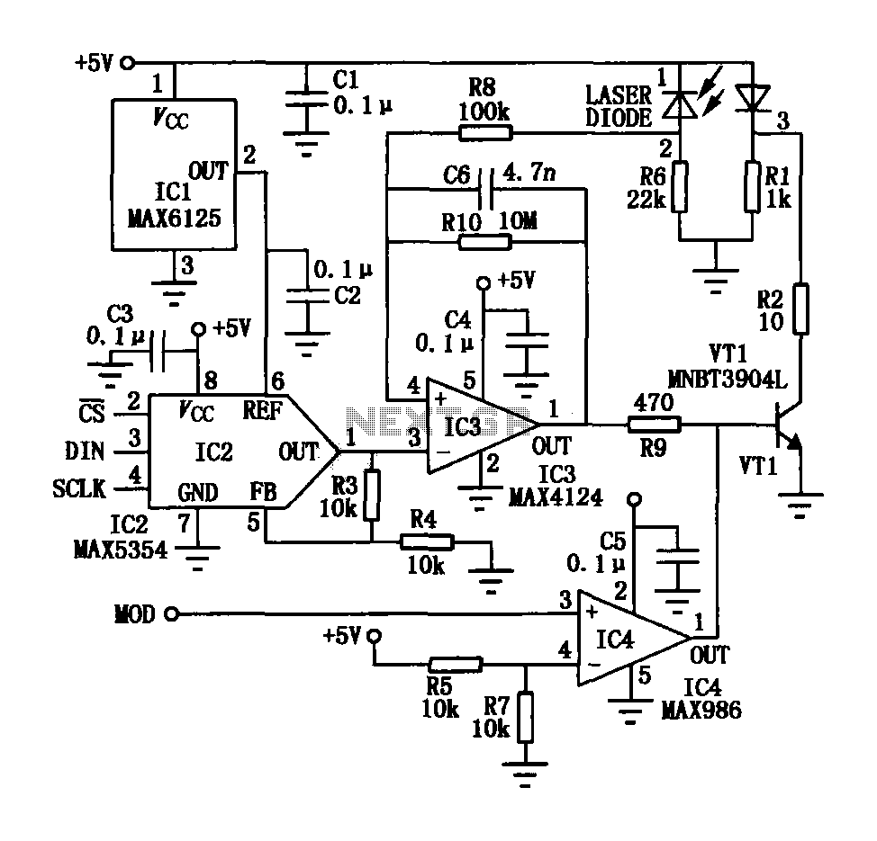 NC visible laser modulation driver circuit - schematic