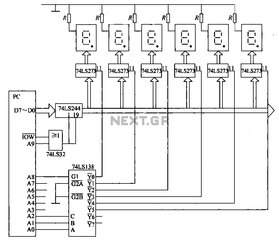 6 static display circuit - schematic