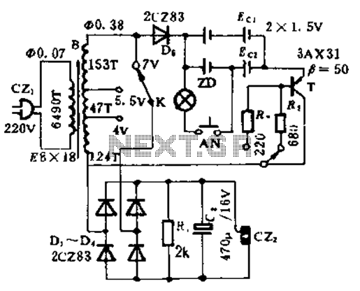 Low voltage DC power charger circuit - schematic
