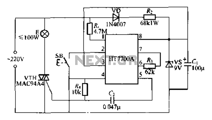asic stepless dimming lamp circuit under other circuits