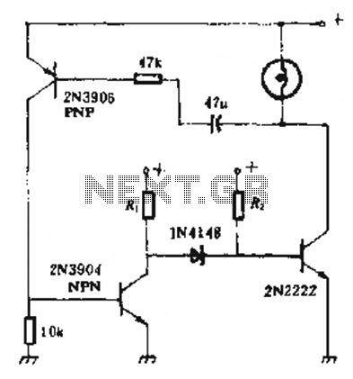 Lamp inrush current suppression circuit - schematic