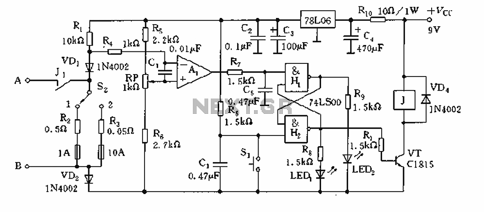 Current limiting circuit - schematic