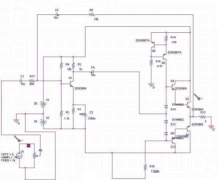 15 Watt Amplifier - schematic