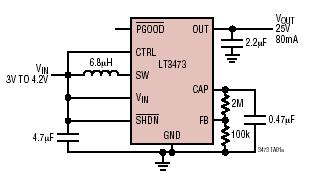 Micropower 1A Boost Converter with Schottky and Output Disconnect - schematic