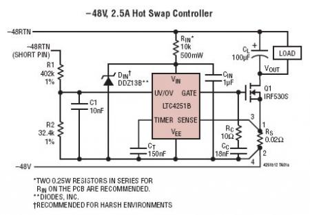 Negative Voltage Hot Swap Controllers in SOT-23