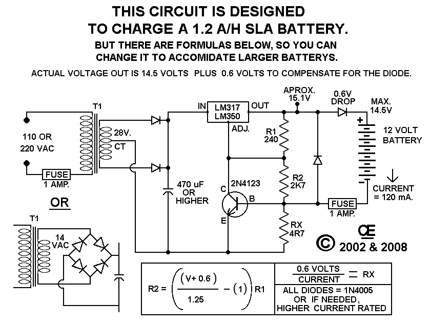 A Simple but Good Battery Charger - schematic