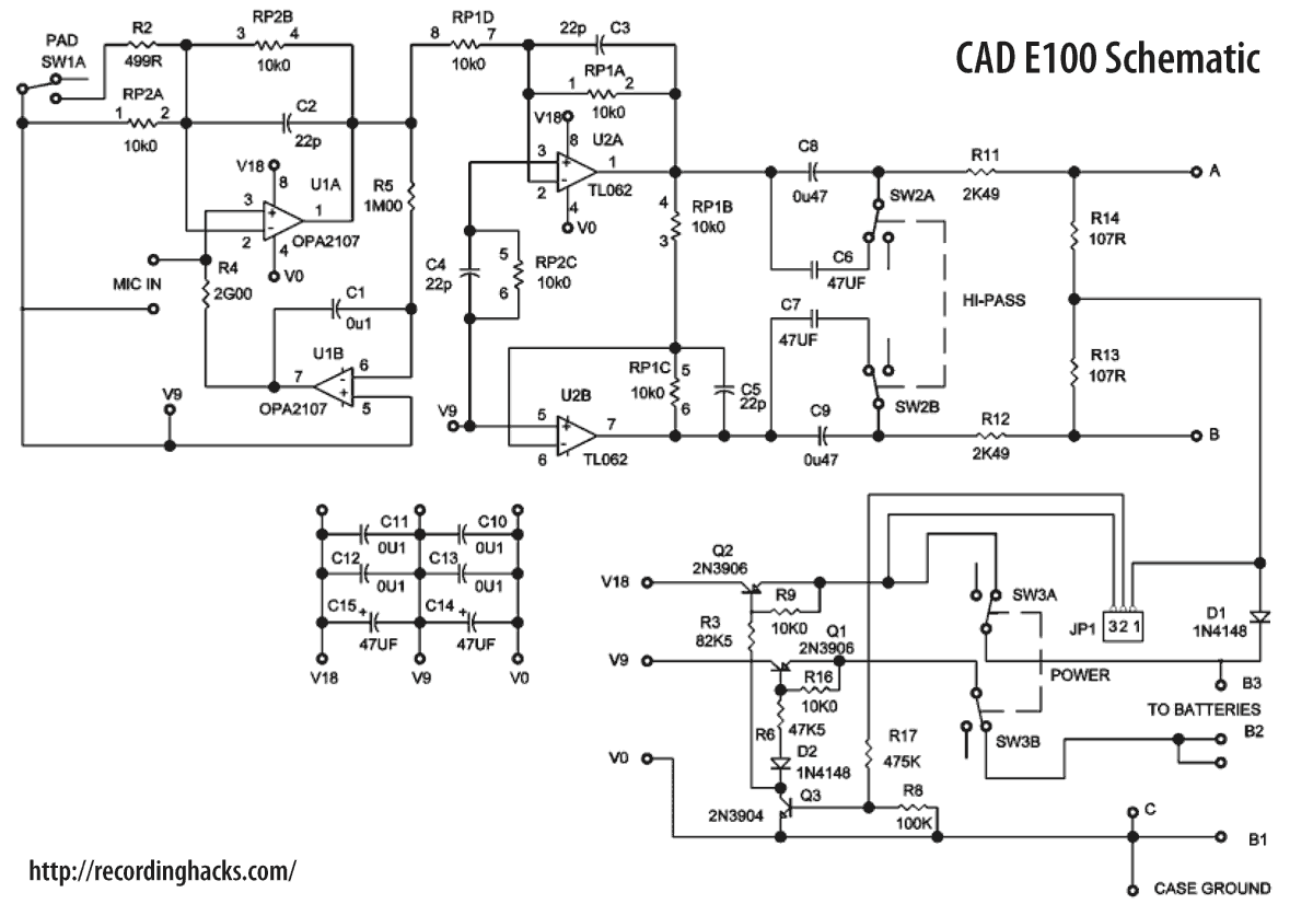 Results Page 85 About 40 Watt Hi Fi Amplifier Searching Circuits Microphone Preamplifier Based Tlc251 Cad Equitek E100