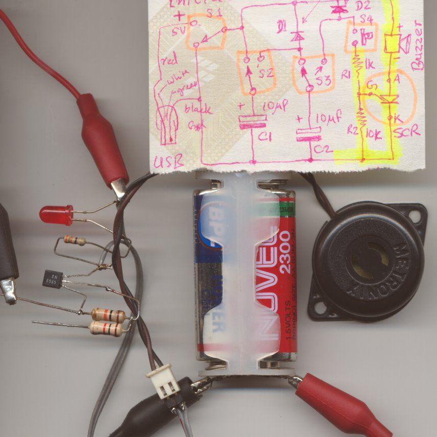 ETest buzzer and SCR - schematic