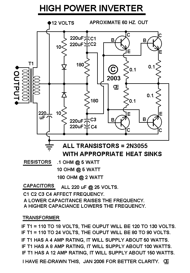 Simple Inverter - schematic