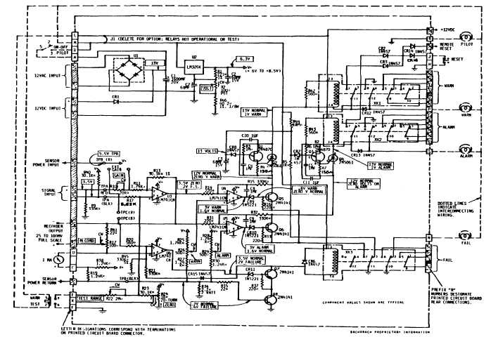 cd800  830 printed circuit board schematic diagram