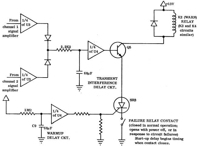 Time Delay Circuit CD802/832 Schematic Diagram