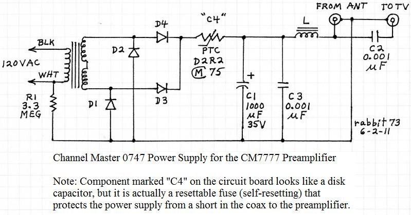 cm7777 preamp - schematic