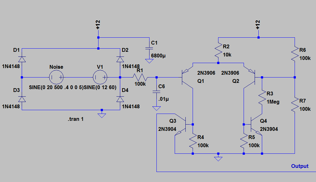 Transistor Clock - schematic