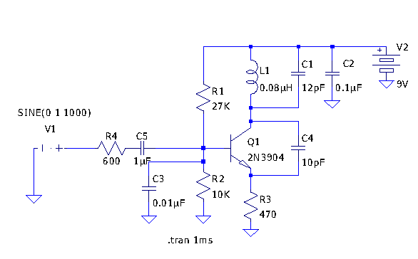 Schematic for the Micro FM transmitter - schematic