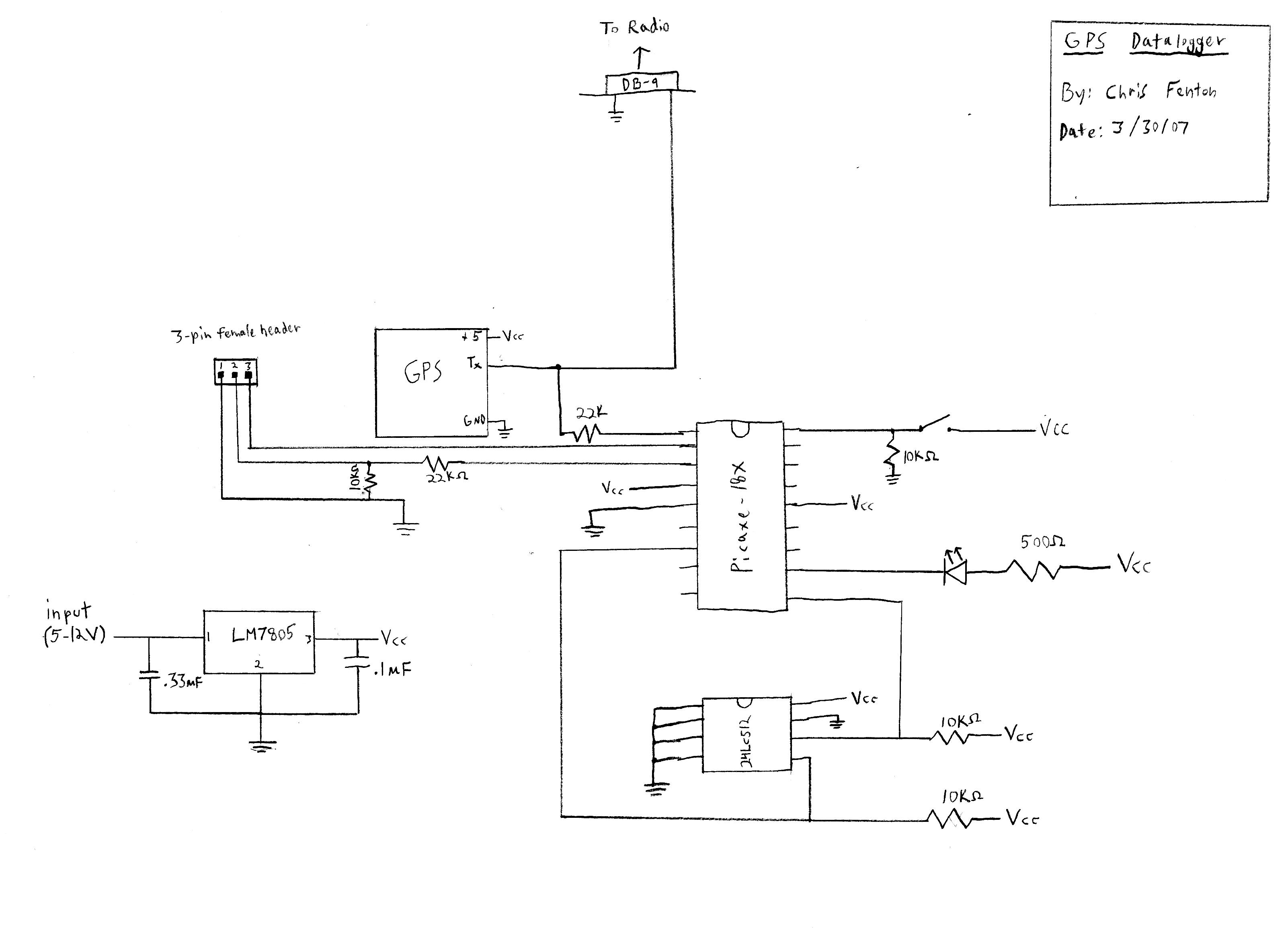 gps altimeter - schematic