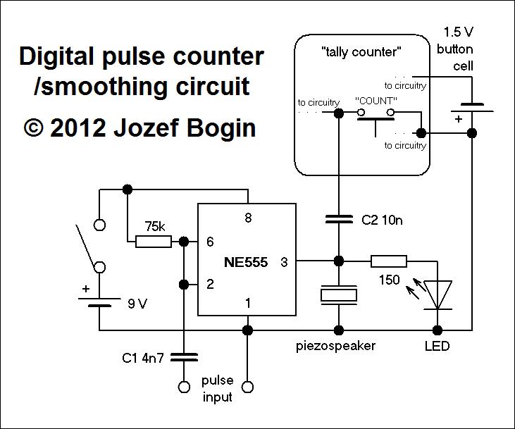 Pulse Meter Wiring : Counter circuit page meter circuits next gr