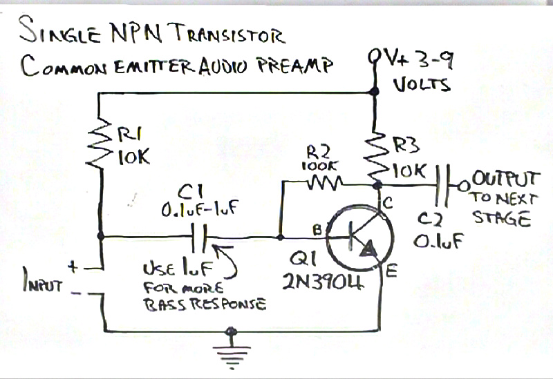 simple common emitter amplifier