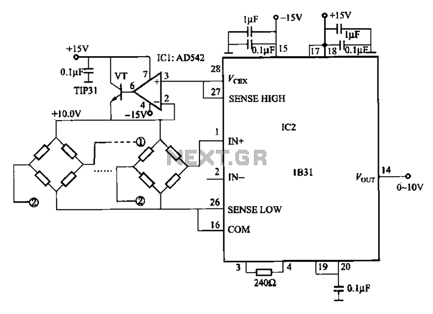 0 to 10V output multiplexer measuring circuit - schematic