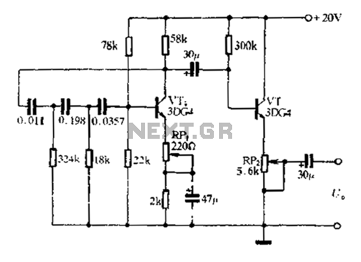 1khz rc phase shift oscillator circuit under oscillator