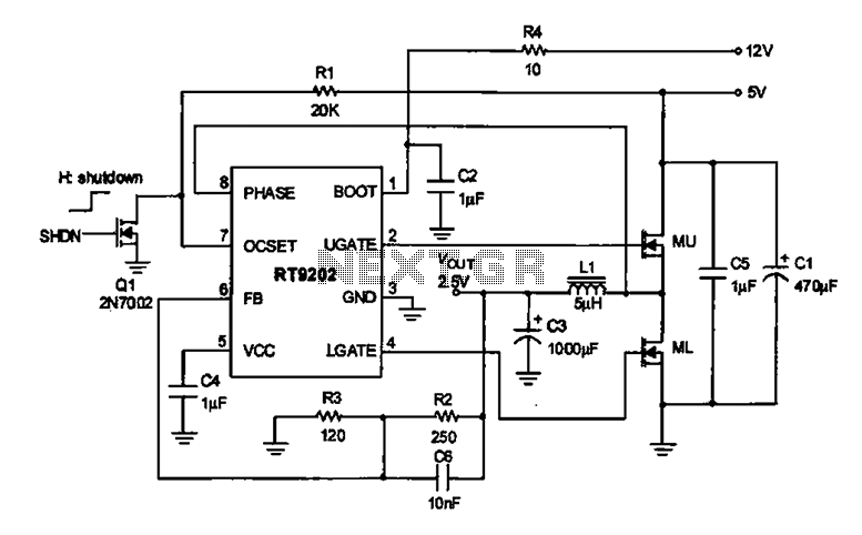 2.5V voltage regulator circuit
