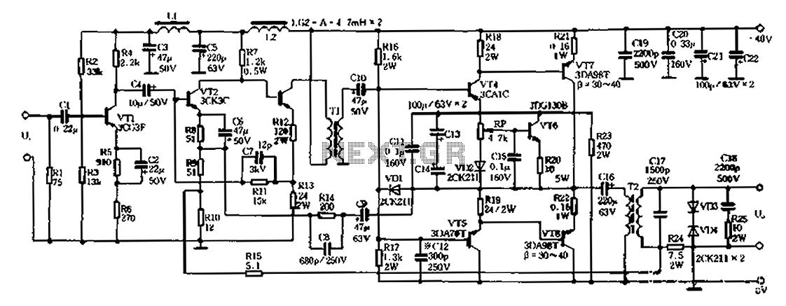 20W 40-500kHz PA 01 - schematic