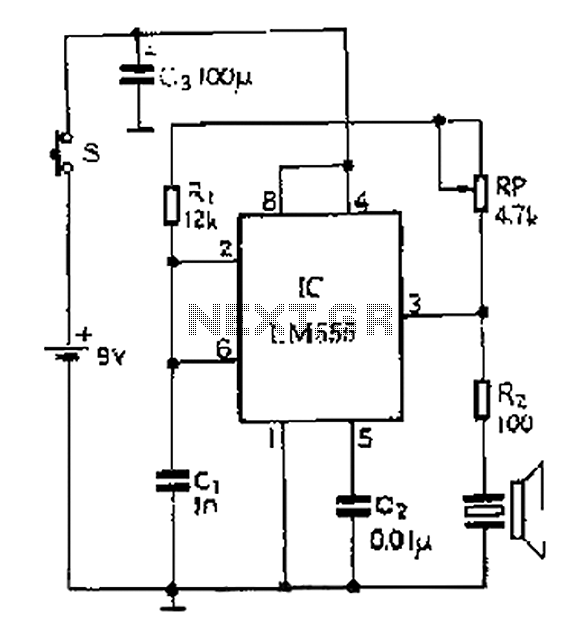 40kHZ ultrasonic transmitter circuit diagram - schematic