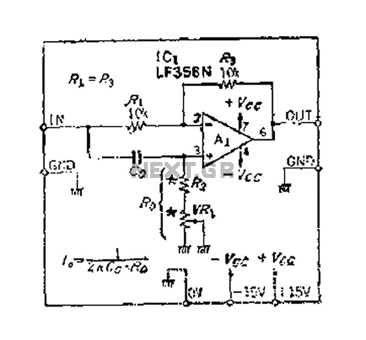 90 phase shifter circuit having a flat frequency characteristic