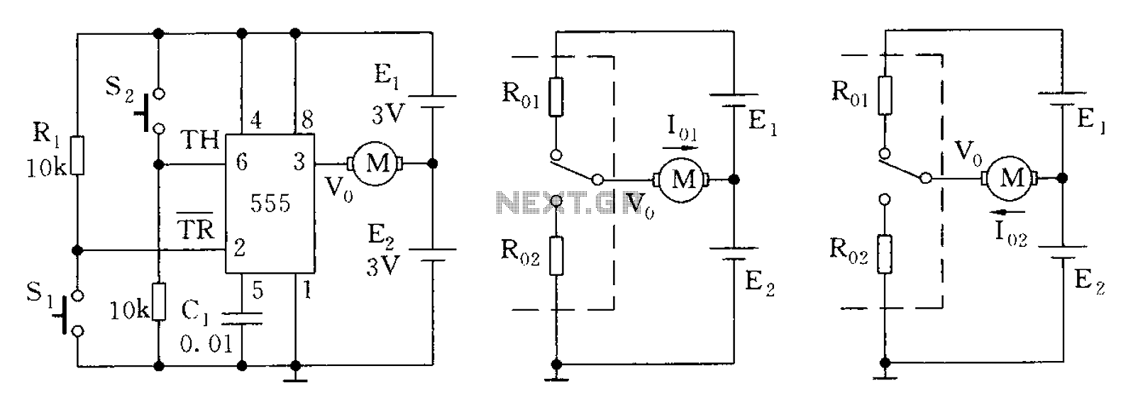 555 Timer Circuit Other Circuits Ic Internal Structure Working Pin Diagram And Description A Control Pairs Steady Mode
