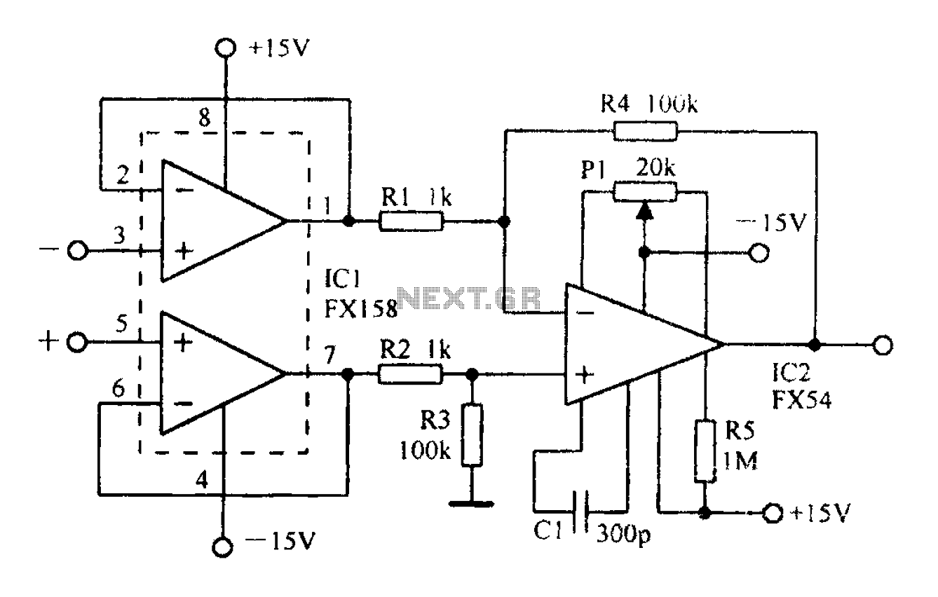 u0026gt  other circuits  u0026gt  a differential amplifier having input
