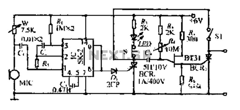 A flash voice delay circuit - schematic