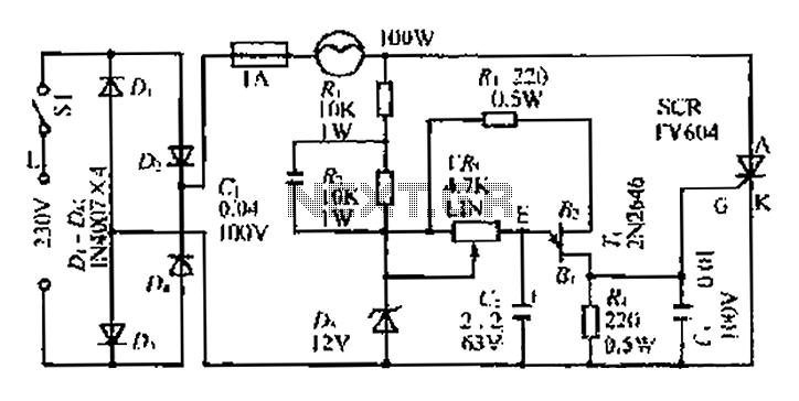 A linear dimming controller - schematic