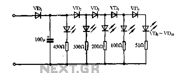 a passive light emitting diode output level indication circuit under led circuits