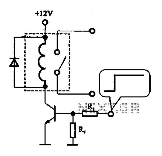 A relay control circuit - schematic