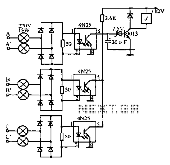 A simple grid control circuit - schematic