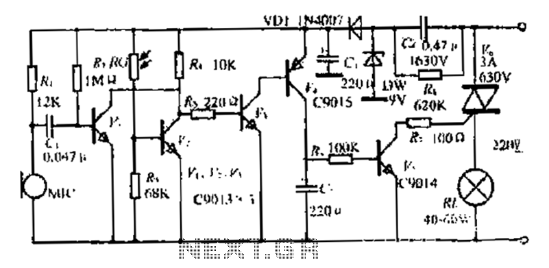 A sound and light control switch circuit II