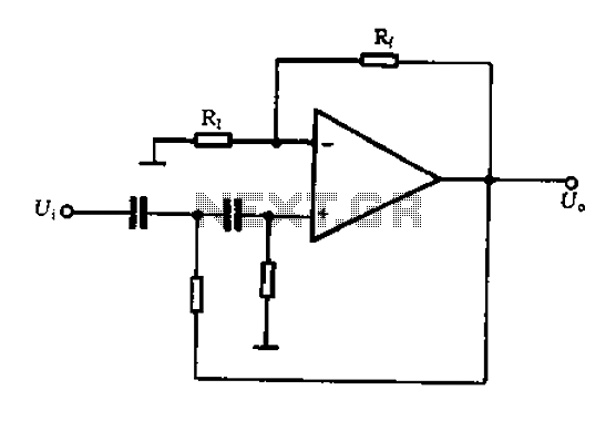 A typical two high-pass filter circuit - schematic