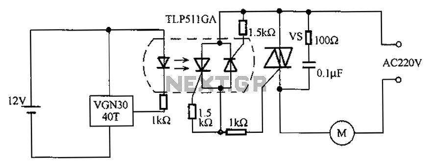 AC motor integrated Hall element off the circuit diagram - schematic