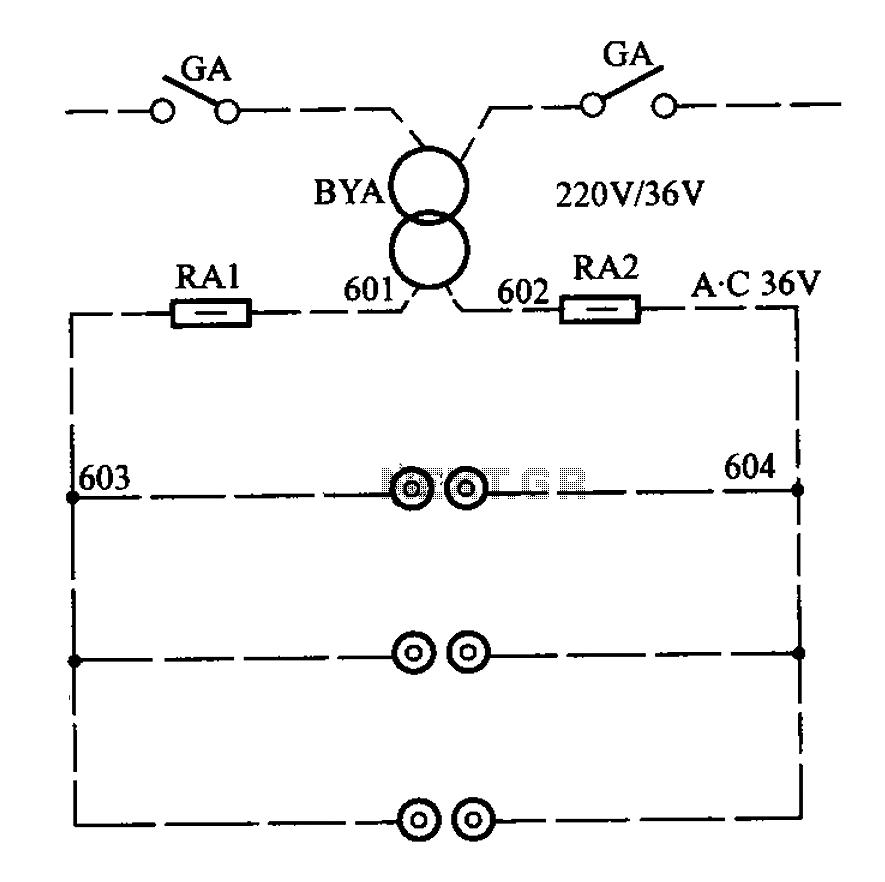 APM-81 elevator control cabinet circuit - schematic