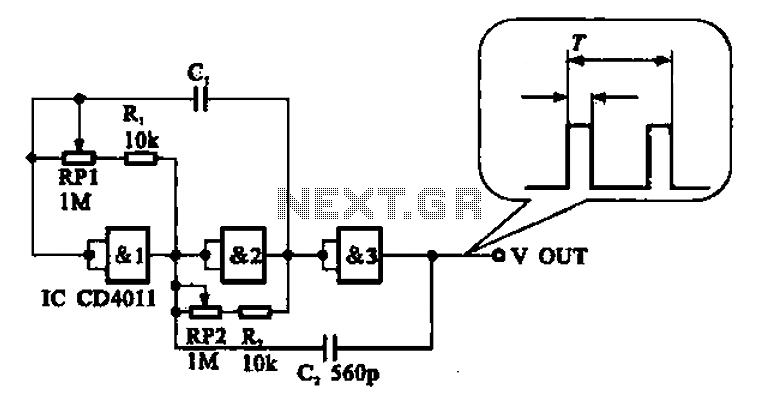 Adjustable pulse generator circuit - schematic