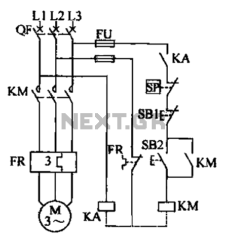 Air compressor circuit - schematic