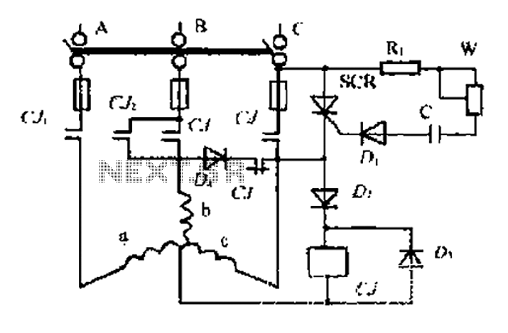 An induction motor dynamic braking control circuit - schematic