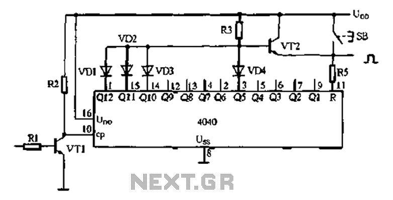 Analog electronic clock the whole point of the trigger signal to obtain - schematic