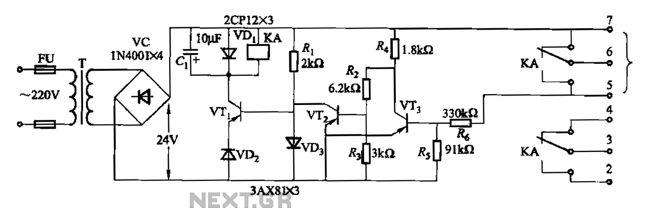 Another type of level controller internal circuitry JYB - schematic