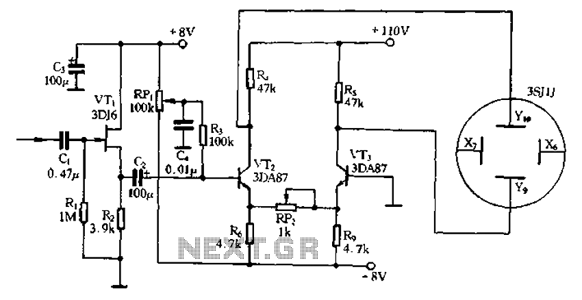 application of the differential amplifier circuit in a