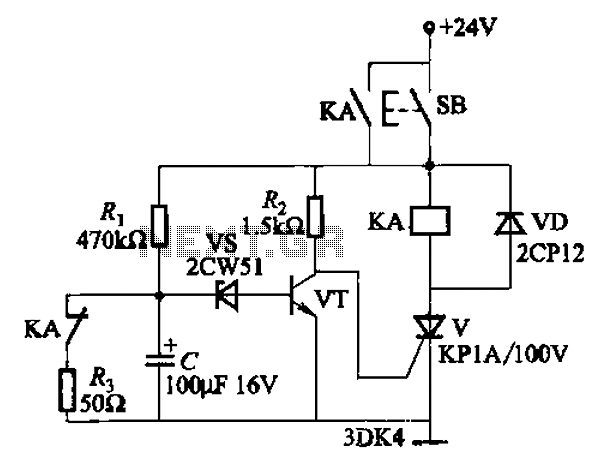 As one of the thyristor type delay circuit - schematic