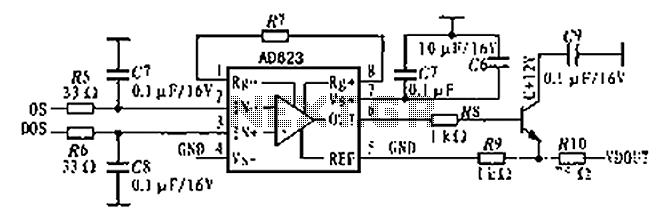 CCD analog output signal processing circuit diagrams