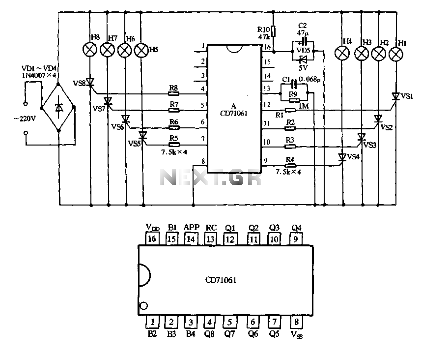 CD71061 holiday lights ASIC - schematic